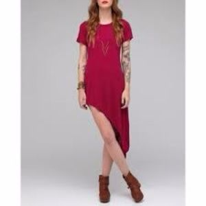 NEW LNA Women's Asymmetrical Magenta Pink Dress XS